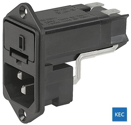 IEC插座+保險絲座+電壓選擇器