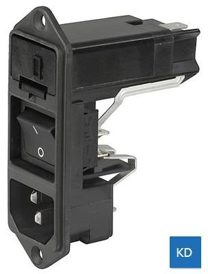 IEC插座+保險絲座+開關+電壓選擇器